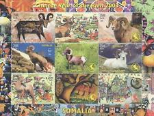 CHINESE HOROSCOPE YEAR OF THE RAM 2003 SOMALIA MNH STAMP SHEETLET