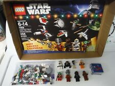 Lego Star Wars 2011 Advent Calendar 7958 All Minifigs + Parts