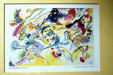 """Kandinsky """"étude pour composition VII"""" 1913 - Reproduction encadrée sous verre"""