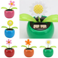 Solar Powered Dancing Flower Swinging Animated Dancer Toy Car Home Decoration