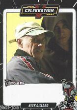 Nick Gillard Official Pix Star Wars Autograph Trading Card Celebration V Exc