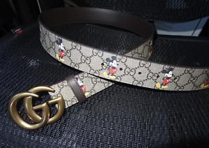 Women's Gucci GG Buckle Belt Leather Size 36 / 90 cm