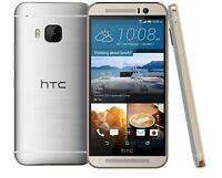 HTC One M9-32GB-GOLD ON SILVER(T-MOBILE) MINT MINT  CONDITION-WITH WARRANTY!