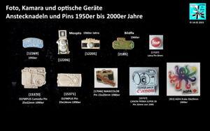 Fotoapparat Kamera Optik optische Geräte Abzeichen 1950er-2000er Jahre AUSSUCHEN