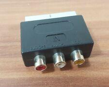 Cinch Scart Adapter Audio-L Audio-R + Video