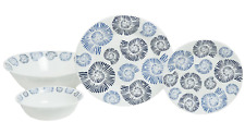 Galleyware Company Nautilus Shell 13 Piece Tempered Glass Dinnerware Set, Dark B