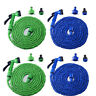 Latex 25/50/75/100FT Expanding Flexible Garden Water Hose W/Spray Nozzle Supply