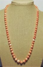 "Genuine Coral Necklace,18"", Light Pink, Graduated, 14 kt Gold Clasp--#G040918"