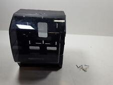 AmazonCommercial Lever Roll Towel Dispenser, Classic, Transparent Black -1-pack
