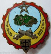 Insigne 302° CMRA Matériel Maroc 1945 Mardini émail ORIGINAL