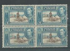 TRINIDAD & TOBAGO, KGV1 6c SG 250, MNH BLOCK 4, CAT £11