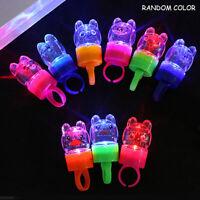 10PCS Novelty LED Flashing Cartoon Ring Christmas Party Finger Ring Kids Toys