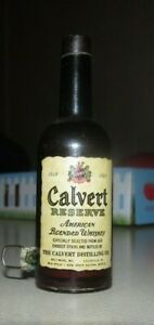 Vintage  CALVERT WHISKEY,  Mini,  Bottle,  Sewing,  Tape Measure