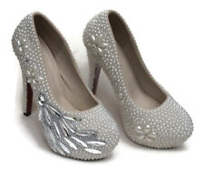 CHAUSSURES PLATEFORMES PERLES et STRASS MARIAGE POINTURE 39 NEUVES