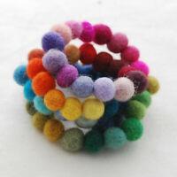 100 X Pom Pom 1cm Round Wool Felt Balls Hand Beads Nursery Christmas DIY Crafts