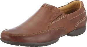 Clarks Mens Casual Slip-on Shoes RECLINE FREE Tan Leather UK 7 H Wide Fit