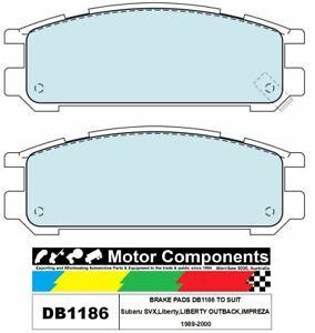 BRAKE PADS DB1186 TO SUIT Subaru SVX,Liberty,LIBERTY OUTBACK,IMPREZA 1989-2000