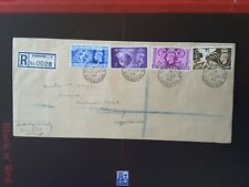 GB 1948 OLYMPIC GAMES SET FIRST DAY COVER REGISTERED to Edinburgh