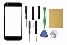 "Black Outer Front Screen Glass Lens Replacement For Google Pixel 5"" + Tools"