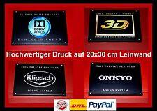 Dolby Digital Onkyo Atmos Auro LG Druck THX 3x Heimkino Schild DTS