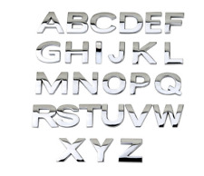 Auto 3D Chrome Letters or Numbers Emblem Badge Sticker 0.98In Top Quality Car