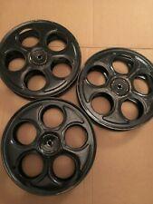 "1 Antique 35mm Film Reel 10"" Movie Projector Steel Reels W/ 5f Free Film / Black"