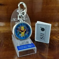 New Disney SII By Seiko Winnie The Pooh Stained Glass Open Skeleton Pocket Watch