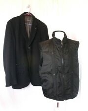 """MARC O'POLO wool 2 piece jacket, coat, 40"""", removable quilted gillet, warm"""