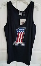 NWT Harley Davidson women's black tank with number 1 logo, size 1W, #101