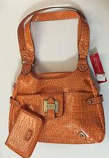 NEW Rosetti Reptile Print Handbag Shoulder Bag Purse & Matching Wallet NWT