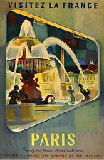 French National Railways Poster, Visit France by SNCF Paris 11 x 17 Giclee Print