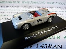 CH21T Voitures Mythiques Atlas IXO Chapatte PORSCHE 550 SPYDER 55 little bastard