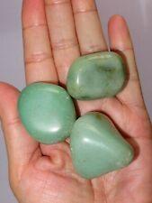 3 Large Green Aventurine Tumbled Stone: Crystal Healing Reiki Gemstone