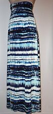 NWT CYNTHIA ROWLEY WOMAN Ikat Print Maxi Skirt - Soft Jersey 3X Blues