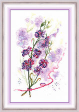 """Counted Cross Stitch Kit Golden Hands - """"Flower watercolor"""""""