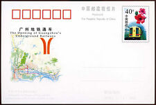 China PRC 1997 JP60 Underground Railway Stationery Card Unused #C26294