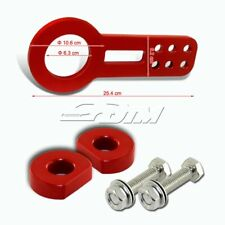 "2.5"" 10MM Anodized CNC Billet Aluminum JDM Red Front Bumper Racing Tow Hook FF"