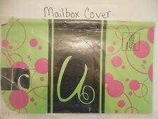 "Magnetic Mailbox Cover MONOGRAM Artistic Polka Dots Initial "" U  "" ONLY "" U """