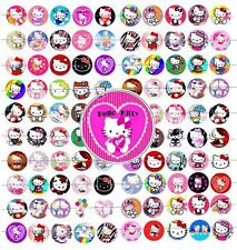 "100 Precut 1"" Hello Kitty Bottle cap Images Set 1"
