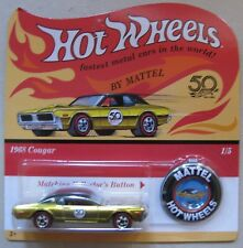 Hot Wheels 2018 50th Anniversary 1968 COUGAR gold Redline with button