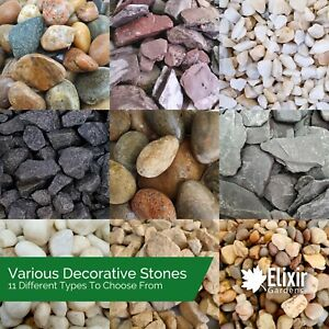 Decorative Coloured Stones | Pebbles Cobbles Slate Gravel Chippings Aggregates