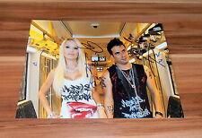 Marc Terenzi & Gina Lisa, *Dschungelcamp 2017* original signiertes Foto 20x25 cm