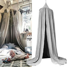 Kids/Baby Bed Canopy Netting Bedcover Mosquito Net Curtain Bedding Round Dome US