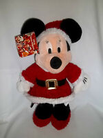 """New DISNEY STORE 15"""" Plush Christmas HOLIDAY MINNIE MOUSE Large Stuffed Doll"""