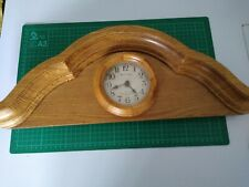 Westminster Chime Clock And Mechanism Mounted On Solid Oak Wood Frame