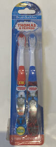 NIP! 2 Pack Brush Buddies Kids Thomas and Friends Toothbrushes Red & Blue