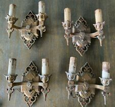 Lot of 4 Antique 1920 / 1930s J.C. VIRDEN Co B91 Gothic Style Sconce