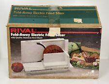 Vintage Rival Fold Away Electric Food Slicer Model 1044