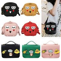 Kids Girls PU Leather Shoulder Handbags Cute Cartoon Messenger Bags Crossbody