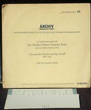 17 cm Bach Fantaisie chromatique 903 Edith Picht-Axenfeld 1953 LP & CV EX
